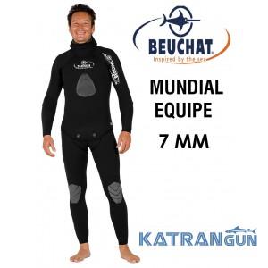 Гідрокостюм для підводного полювання 7 мм Beuchat Mundial Equipe