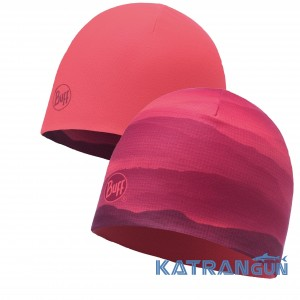 Двухслойная женская шапка Buff Microfiber Reversible Hat soft hills pink fluor