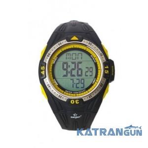 Подводные часы с глубиномером SARGAN Вектор 100м желтые кнопки