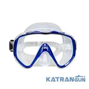 Маска для подводной охоты Marlin Visualator; прозрачно-синяя