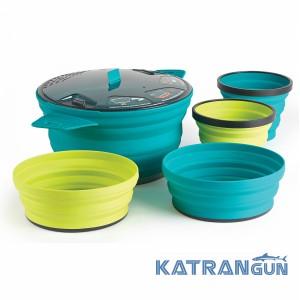 Набор посуды на 2 персоны Sea To Summit XSet31- 2,8L Pot 2-Bowl + 2-Mug