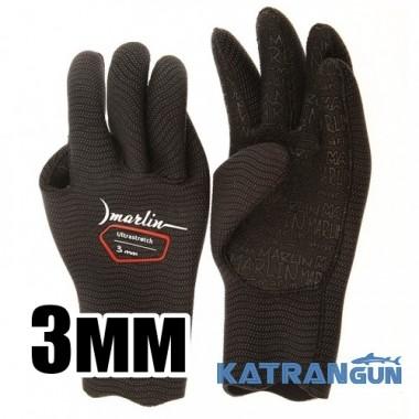 Перчатки из неопрена Marlin Ultrastretch Black, 3 мм