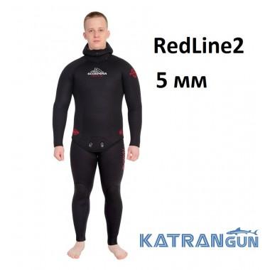 Гидрокостюм для теплой воды Scorpena RedLine2; 5 мм