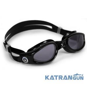 Очки для плавания Aqua Sphere Kaiman; черные, линзы темные