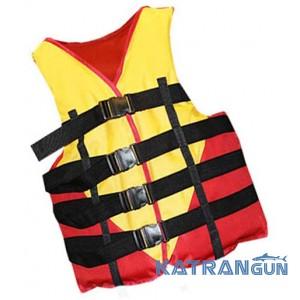 Страховочный жилет для рыбалки Bark, красно-черный, 30-50 кг
