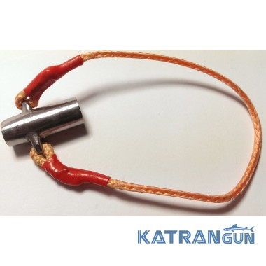Скользящая втулка из нержавеющей стали Katrangun с гидротормозом, 2 ушка, 8 мм.