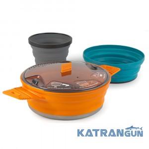 Набор складной посуды кастрюля 1.4 л чашка миска Sea to Summit X-Set 21