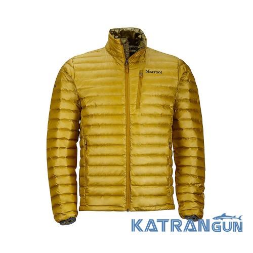 0076336785f1 Легкий мужской пуховик Marmot Men's Quasar Nova Jacket, Golden Palm ...