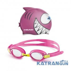 Детский набор очки + шапочка для плавания Head Meteor Character