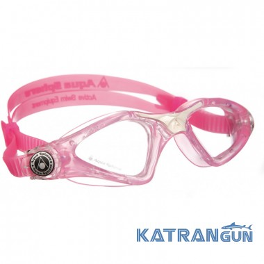 Детские очки для бассейна Aqua Sphere Kayenne Junior, clear lens pink/white