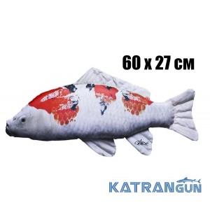 Подушка-игрушка Карп-Кои; красно-черный (60х27 см)