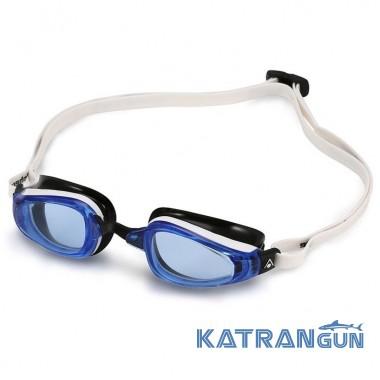 Окуляри для басейну Michael Phelps K180, біло-чорні, лінзи сині