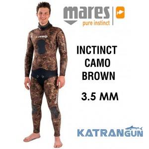 Літній гідрокостюм для підводного полювання Mares Instinct Camo Brown 3,5 мм