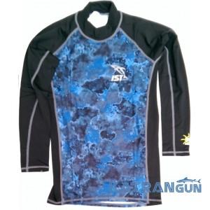 Рашгард для плавання IST, довгий рукав, синьо-чорний