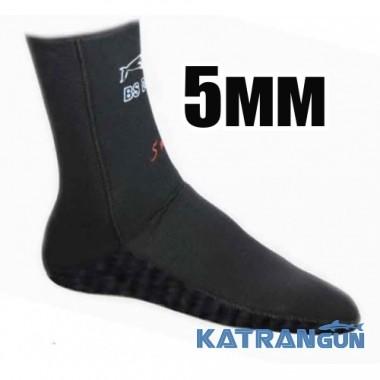 Неопренові шкарпетки для підводного полювання BS Diver Ultrablack 5 мм