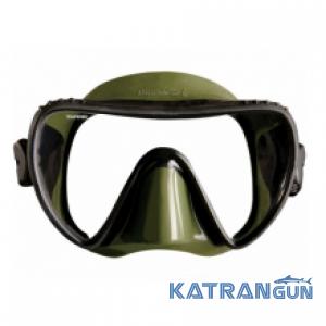 Маска для підводного полювання Mares Essence LiquidSkin; чорно-зелена