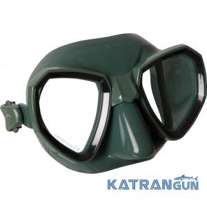 Маска для подводного плавания Salvimar Maxale зеленый силикон, черная рамка