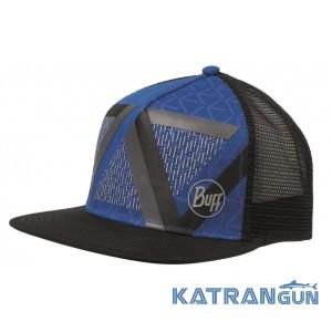 Класична кепка Buff Trucker Cap optic block cape blue