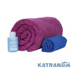 Набор полотенец Sea To Summit Tek Towel Wash Kit + туристическое мыло