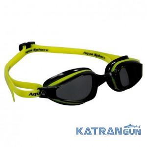 Стартовые очки Michael Phelps K180; желто-черные, темные линзы