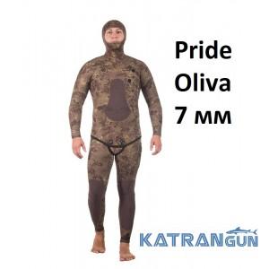 Гідрокостюм камуфляжний Marlin Pride Oliva 7 мм