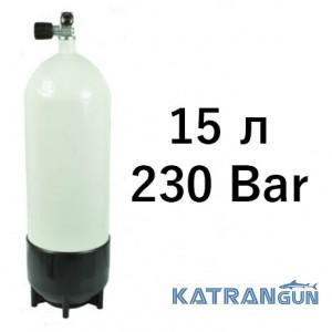 Сталеві балони для дайвінгу Vitkovice, 15 літрів Vitkovice, 230 Bar