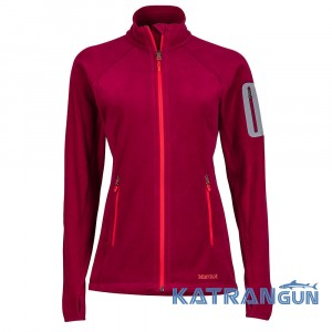 Обновленная флисовая кофта Marmot Women's Flashpoint Jacket, Red Dahila