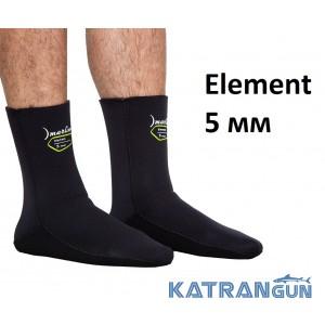 Носки для подводной охоты Marlin Element 5 мм; нейлон/открытая пора