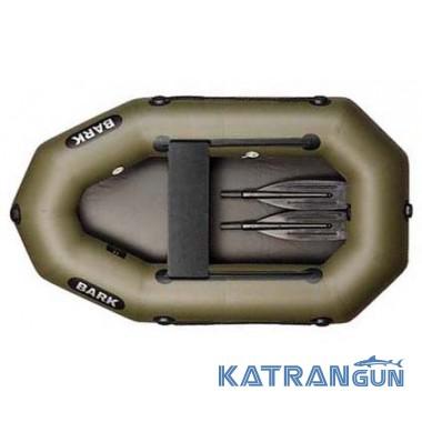 Одноместная надувная лодка пвх Bark B-190D, двигающееся сиденье