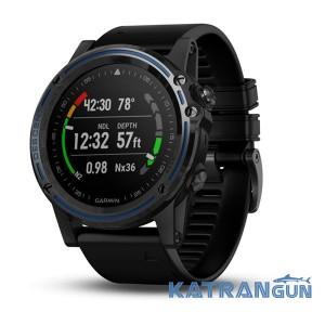 Підводний комп'ютер смарт-годинник Garmin Descent MK1; титановий з силіконовим ремінцем