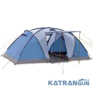 Четырехместная кемпинговая палатка Pinguin Base Camp 4 Petrol