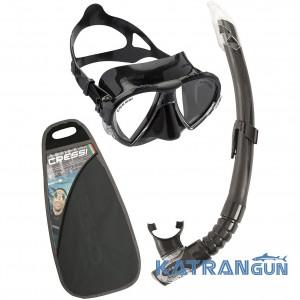 Набор маска трубка Cressi Sub Matrix Set; черный