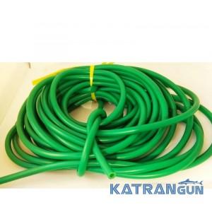 Латексная трубка BS DIVER 9 мм (вн.диаметр 5 мм) прозрачная в зелёном чулке
