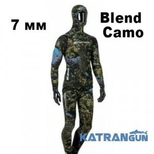 Гидрокостюм для подводной охоты Salvimar Blend Camo 7 мм (короткие штаны)