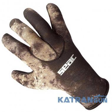 Лучшие перчатки для подводной охоты Seac Sub Camo 3,5 мм