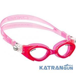 Детские очки для плавания Cressi Sub Crab розовые