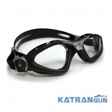 Очки для плавания в открытой воде Aqua Sphere Kayenne, clear lens black/silver