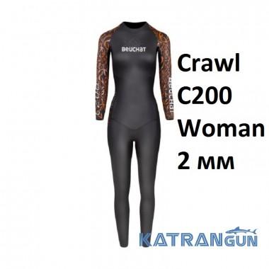 Жіночий гідрокостюм для тріатлону Beuchat Crawl C200 Woman 2 мм