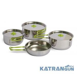 Набор посуды из нержавеющей стали для похода Pinguin Trio L