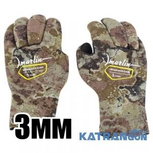 Перчатки для подводной охоты Marlin Ultrastretch Green 3 мм