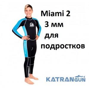 Підлітковий гідрокостюм для дайвінгу та снорклінга Scorpena Miami 2; 3 мм
