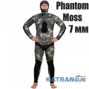 Камуфляжний гідрокостюм Marlin Phantom Moss 7 мм