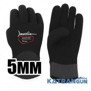 Перчатки неопреновые Marlin Smooth Wrist Duratex 5 мм