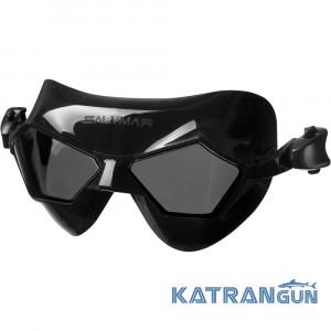 Окуляри-маска для басейну Salvimar Jeko, чорний силікон, тоноване скло