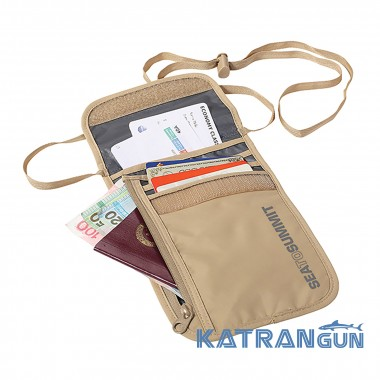 Кошелек на шею Sea to Summit Neck Wallet 5 (Sand/Grey)