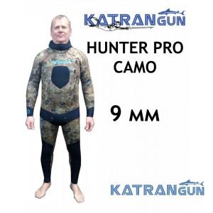 Гідрокостюм для підводного полювання KatranGun Hunter Pro Camo 9 мм