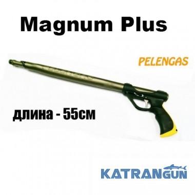 Подводная охота с ружьем пеленгас 55 Magnum Plus; торцевая рукоять