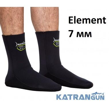 Носки для подводной охоты Marlin Element 7 мм; нейлон/открытая пора