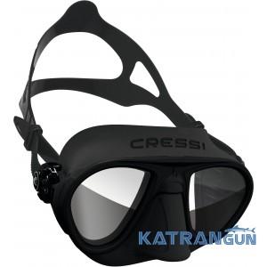 Маска для фридайвинга Cressi Calibro Black HD (зеркальные стекла)