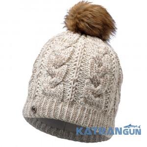 Красива шапка з помпоном Buff Knitted & Polar Hat Darla сru